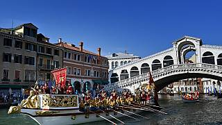 Rowers take part in the Regata Storica
