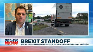 Irish Fine Gael lawmaker Neale Richmond speaking to Euronews on Monday, Sept 7.