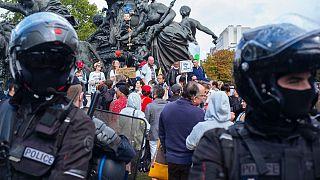 تظاهرات ضد ماسک در پاریس