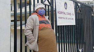 Una paciente del Hospital de la Mujer de la Paz
