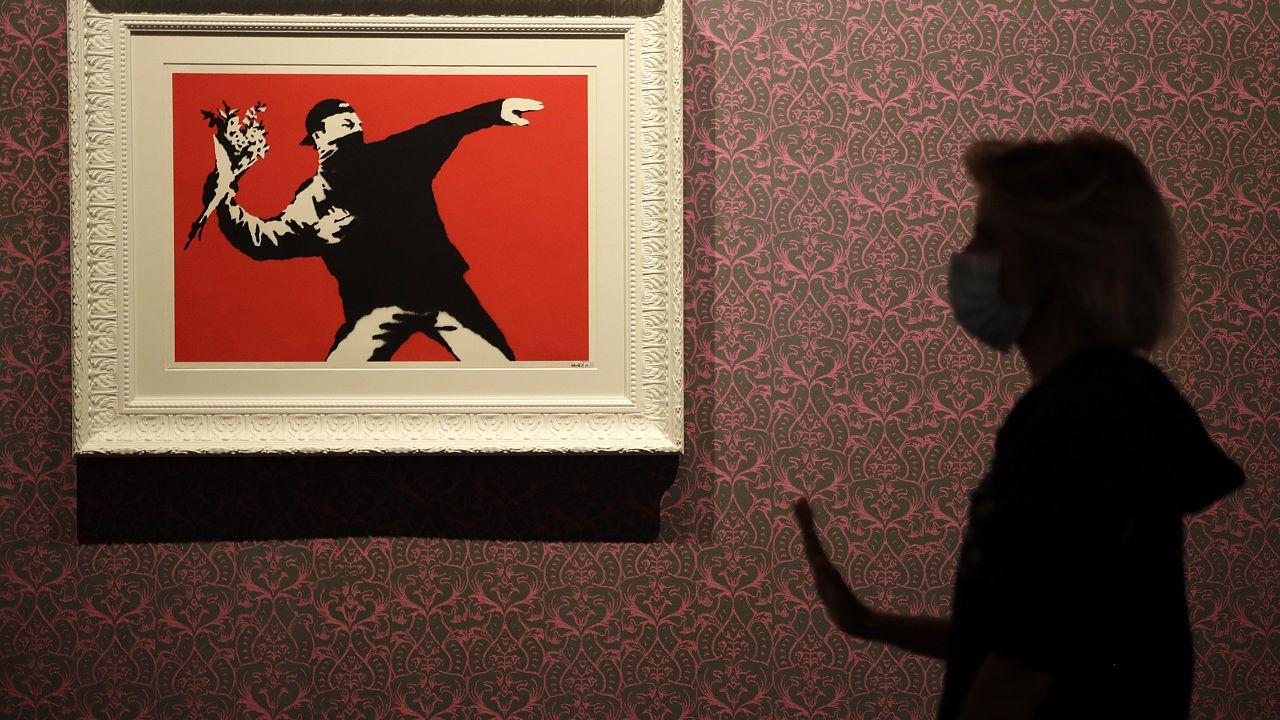 """Love Is in the Air"" von Banksy"