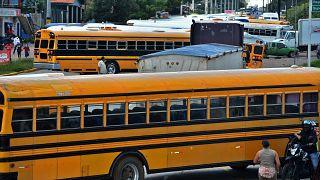 إضراب عمال النقل إلى أجل غير مسمى في هندوراس وسط جائحة فيروس كورونا المستجد