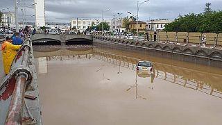 أنفاق تغرق بسبب الامطار في الجزائر العاصمة