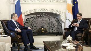 Rusya Dışişleri Bakanı Sergey Lavrov, Lefkoşa'da Güney Kıbrıs Cumhurbaşkanı Nikos Anastasiadis'le bir araya geldi