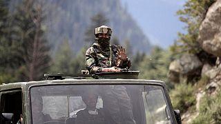 سرباز ارتش هند در منطقه مرزی با چین