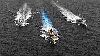 Görög hadihajók hadgyakorlata a Földközi-tengeren
