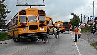 Conductores de autobuses en huelga