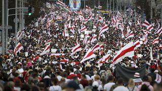 Протестующие в Минске 6 сентября 2020