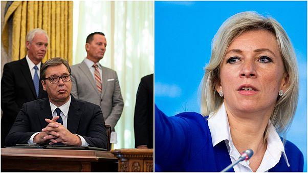 منشور  المتحدثة باسم الخارجية الروسية يغضب الرئيس الصربي