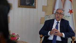 Turkish-Cypriot leader has called for EU countries to calm tensions in the eastern Mediterranean