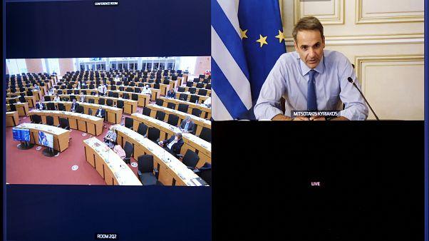 Ο πρωθυπουργός στην τηλεδιάσκεψη του προεδρείου του ΕΛΚ