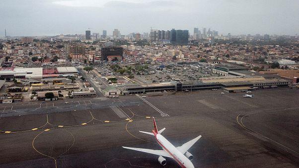 Imagem áerea de arquivo do aeroporto de Luanda em 2018