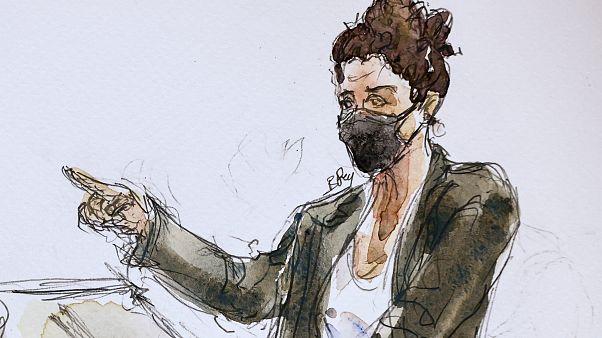 La dibujante Coco en el proceso sobre los atentados contra Charlie Hebdo