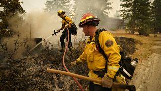 Feuerwehrmänner im Einsatz in Kalifornien