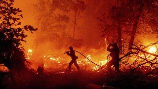 شاهد: رجال الإطفاء يكافحون لإخماد الحرائق المستعرة في عدة ولايات أمريكية