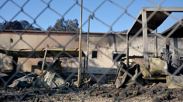 Πυρκαγιά στο ΚΥΤ της Μόριας στη Λέσβο