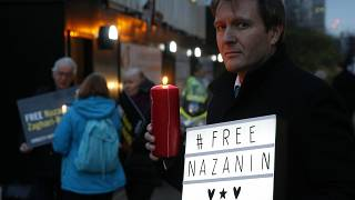 - In this Jan. 16, 2017 file photo, Richard Ratcliffe husband of imprisoned British-Iranian dual national Nazanin Zaghari-Ratcliffe, poses during a London vigil.
