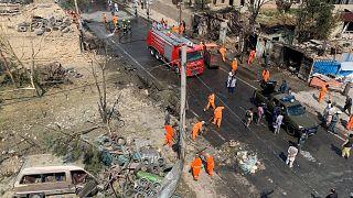 مكان التفجير الذي استهدف موكب أمر الله صالح، نائب الرئيس الأفغاني