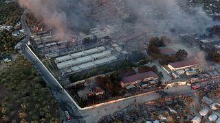 آتشسوزی در اردوگاه پناهجویان در جزیرهٔ لسبوس یونان