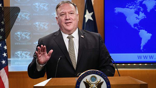 US-Außenminister Mike Pompeo bei einer Pressekonferenz in Washington im September