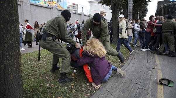 Задержания на акции в поддержку Марии Колесниковой в Минске 8 сентября 2020 г.