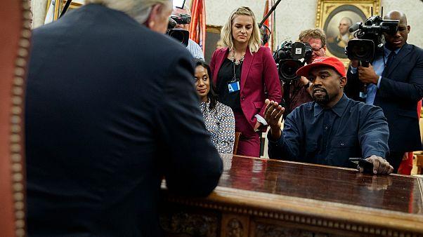 Kanye West ABD Başkanı Trump ile bir araya gelmişti