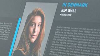 A photo of Kim Wall during a memorial event for journalists killed in 2017 in Washington DC.