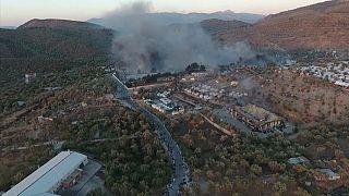 Leszboszi tűzvész: az EU segít