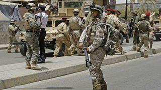 Irak'ın başkenti Bağdat'taki Amerikan askerleri (arşiv)