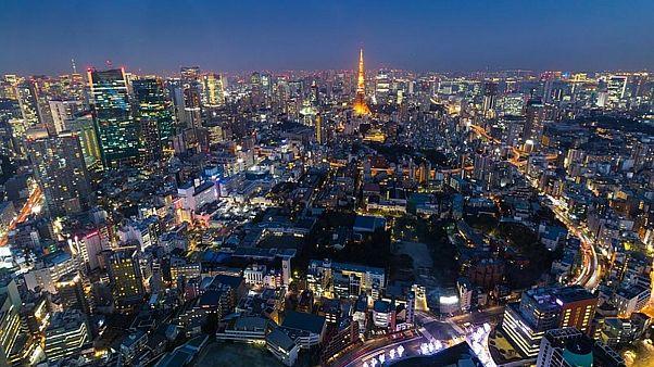 شهر توکیو در شب