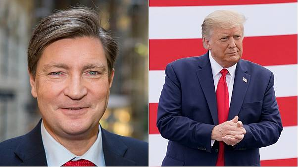 Norway MP Christian Tybring-Gjedde, left, and US President Donald Trump