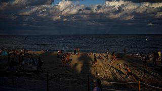 Am Strand in Spanien