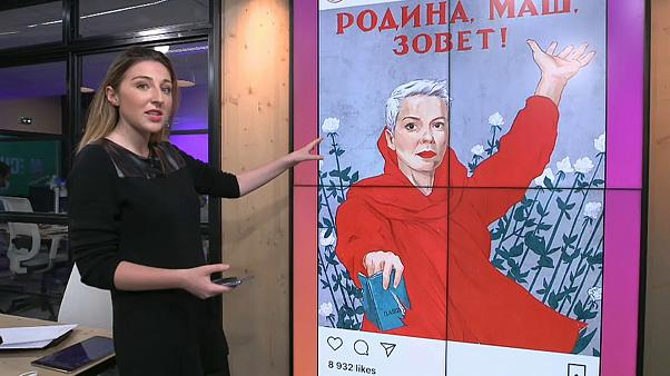 "The artist tells Euronews that her work ""has to help and support people"" through protests in Belarus."