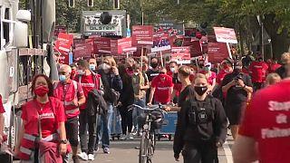 """Alarmstufe Rot"": Veranstaltungsbranche demonstriert in Berlin"