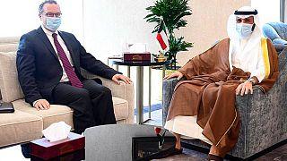 رئيس مجلس الأمة الكويتي مرزوق الغانم مع ديفيد شينكر