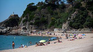 A  praia de Lloret del Mar teve este ano menos afluência devido à pandemia