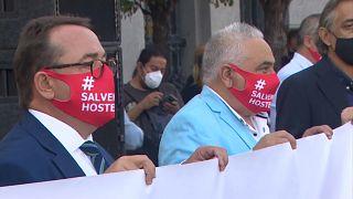 Manifestación en apoyo a la hostelería en España