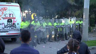 Manifestación en Bogotá contra la brutalidad policial
