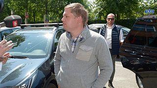 راسموس بالودان زعيم حزب سترام كورس الدنماركي اليميني المتطرف