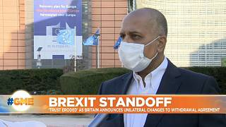 Sajjad Karim speaking to Euronews journalist Shona Murray in Brussels on September 10, 2020 Euronews