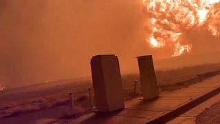 Bilder der heftigen Wald- und Buschbrände in Oregon