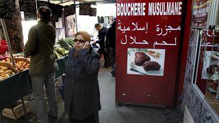 Muslimische Fleischerei in Frankreich.