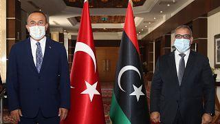 Dışişleri Bakanı Mevlüt Çavuşoğlu ile Libya Yüksek Konsey Başkanı Halid el-Mişri (6 Ağustos)