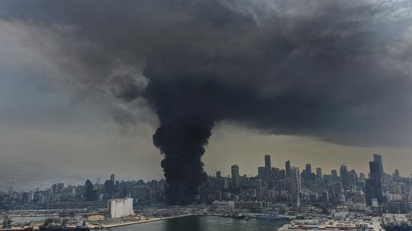 Scena apocalittica su Beirut.