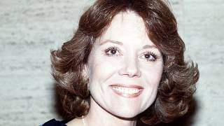 British actress Diana Rigg smiles during a press conference, in London, in 1984.