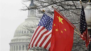 ABD ve Çin bayrakları, Washington (arşiv)