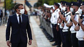 Emmanuel Macron Korzikán