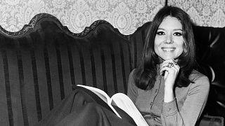 """Diana Rigg, alias """"Bottes de cuir"""", le 29 janvier 1970"""