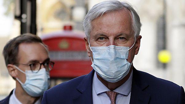 EU-Chefunterhändler Michel Barnier in London.