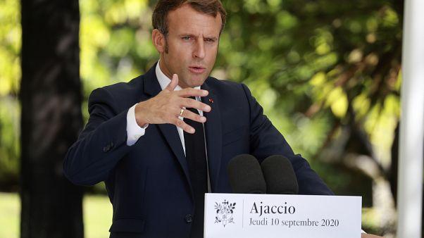 Emmanuel Macron à Ajaccio